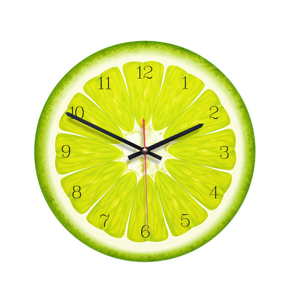 Beautiful Nordic Modern Round Wall Clock with Lemon Design