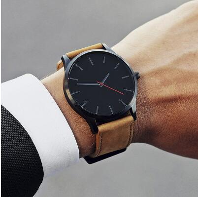 2019 Unisex Fashion Leather Band, Analog Quartz Unisex watch