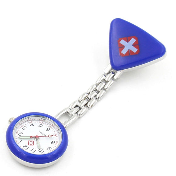 Nurse's Watch With Red Cross Pocket Clip-On Quartz Watch