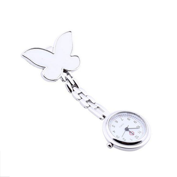 Butterfly Nurse Clip-on Pendant Hanging Pocket Watch