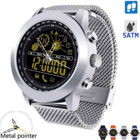New Exceptional Backlight Waterproof Bluetooth Pedometer Smart Watch