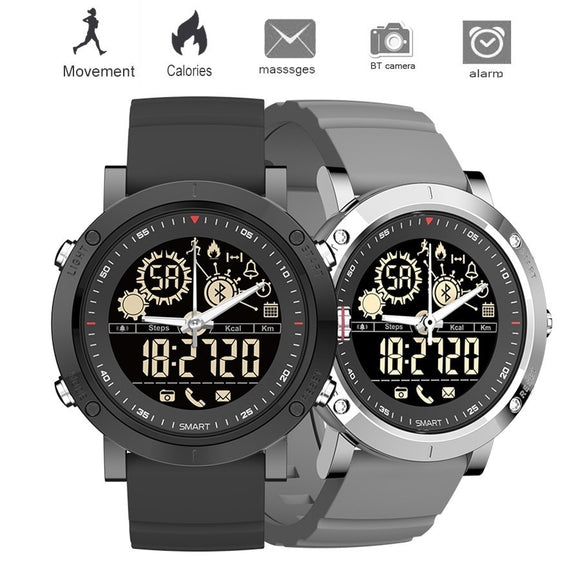 Smart Watch, Men's Sports Watches, Analog Digital Pedometer, Quartz Clock Waterproof
