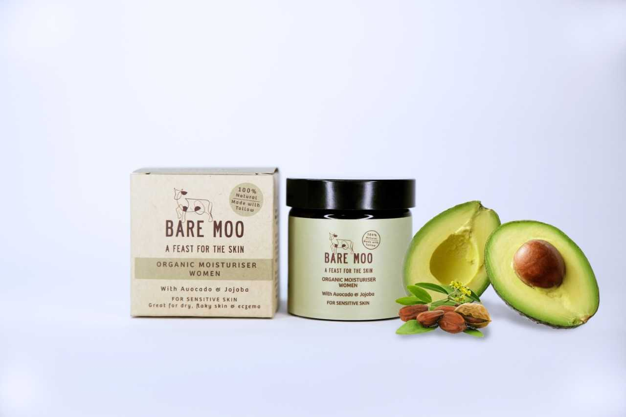 Organic Moisturiser Women,  with Avocado & Jojoba suitable for sensitive skin