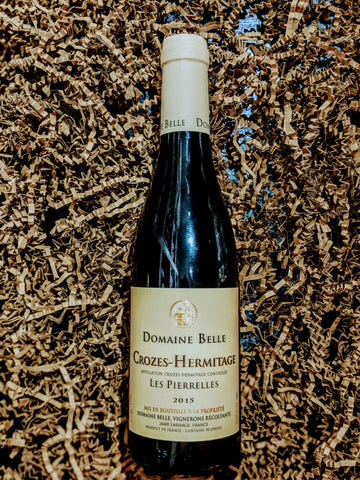 Crozes Hermitage 'Les Pierrelles' 2015, Domaine Albert Belle, Rhone, France (Half Bottle)
