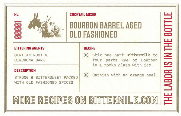 Bittermilk Bourbon Barrel Aged Old Fashioned