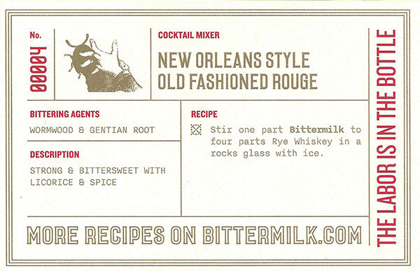 Bittermilk New Orleans Style Old Fashioned Rouge