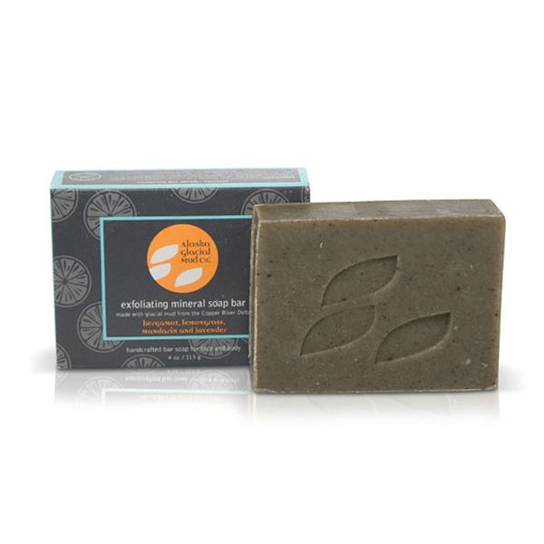 Alaska Glacial Mud Exfoliating Mineral Soap Bar, 4 oz