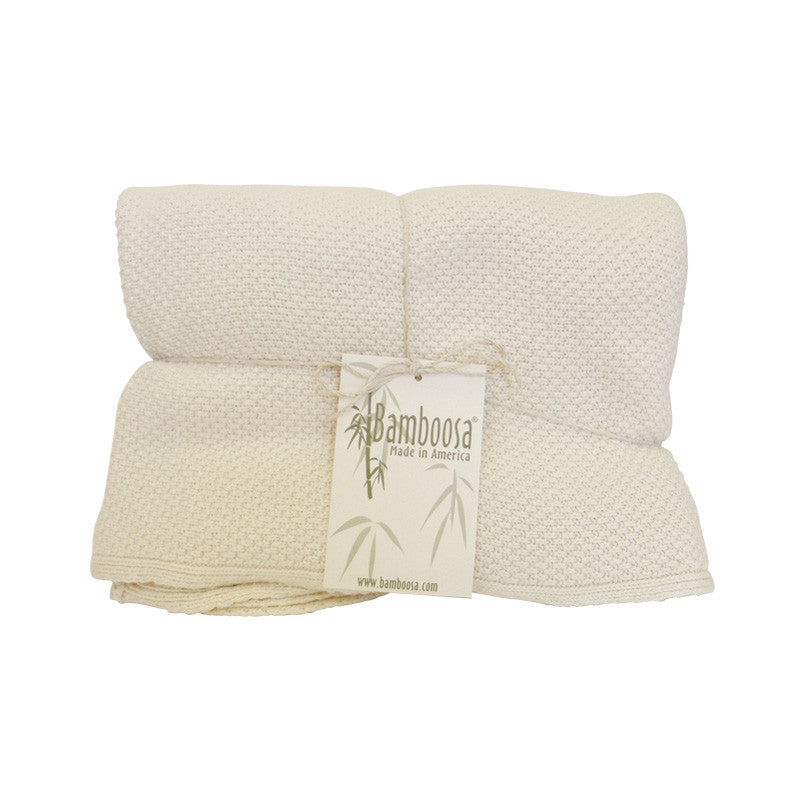Bamboosa Cable Knit Bamboo Baby Blanket Wishbox