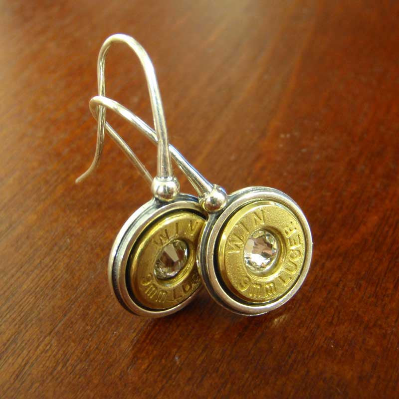 9mm Bullet Earrings - Sterling Silver