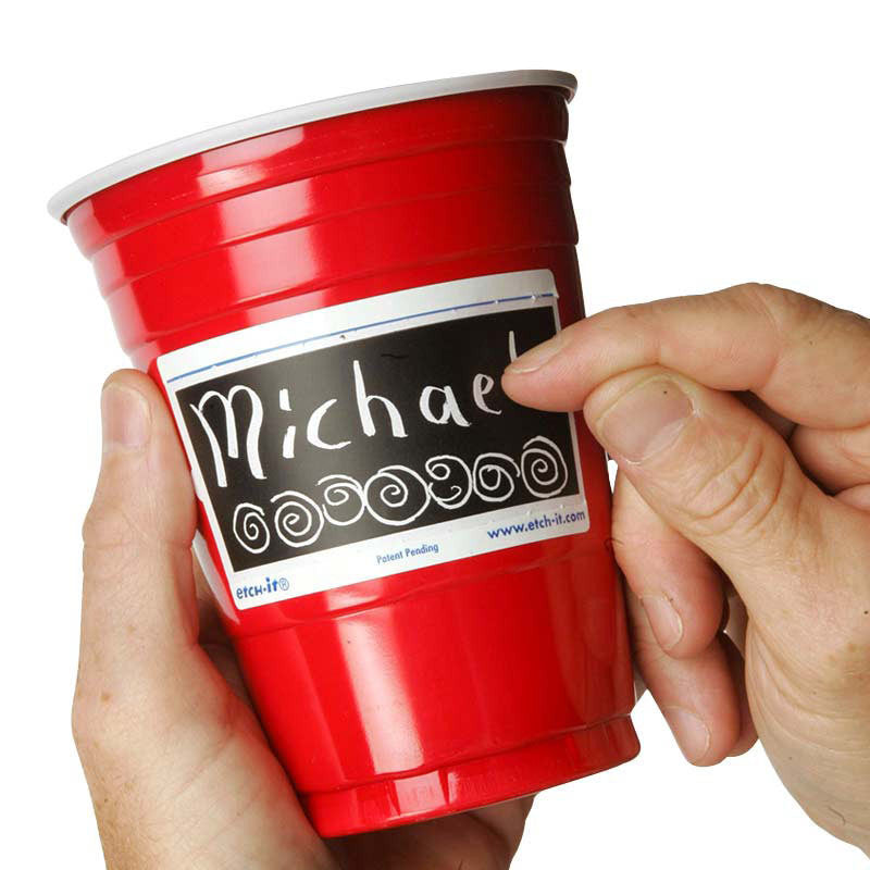 Etch-It Red Cups