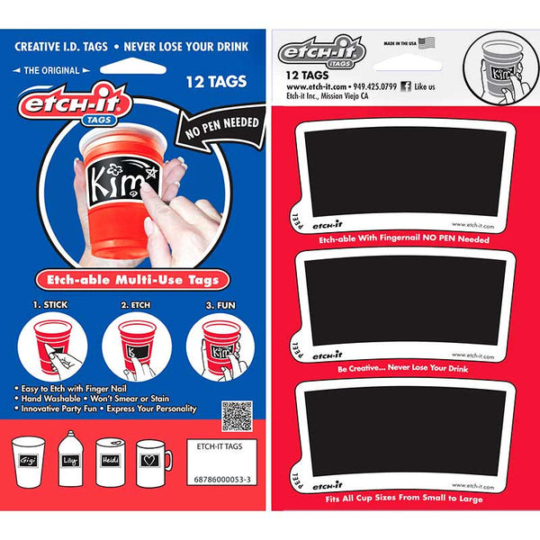 Etch-it Tags - 12 per package