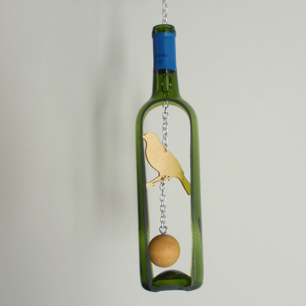 Groovy Green Glass - Wind Chime