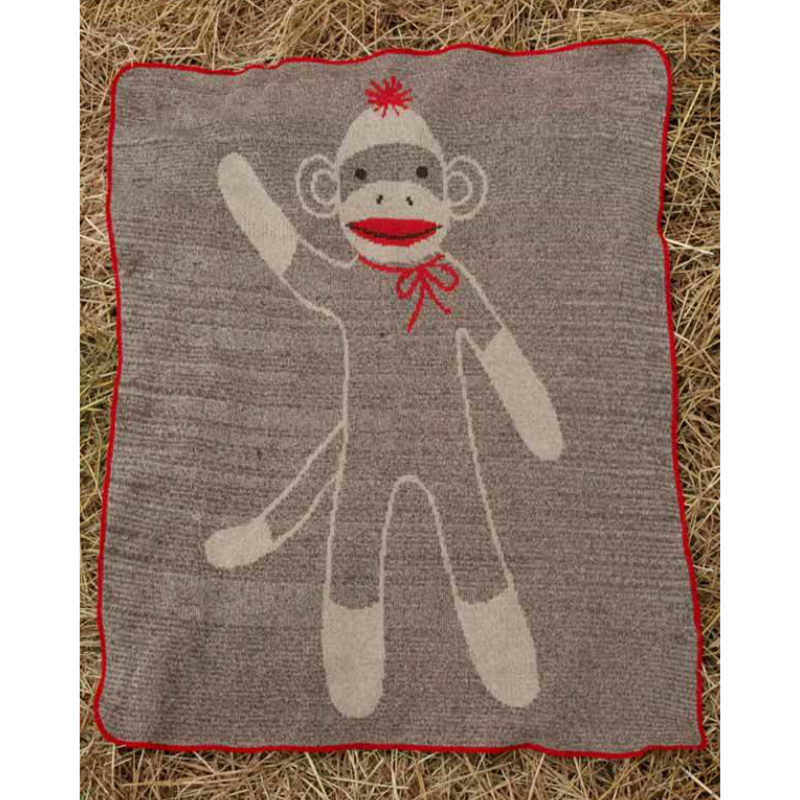 Junior Throw Blanket - Sock Monkey