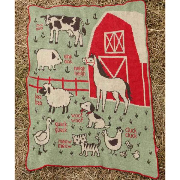 Junior Throw Blanket - 7 Farm Animals