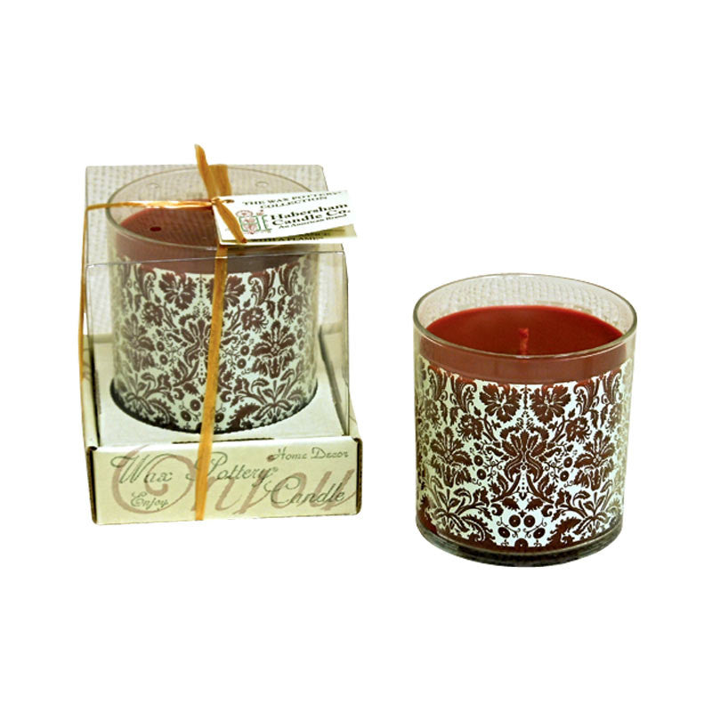 Wax Pottery Glass Candle