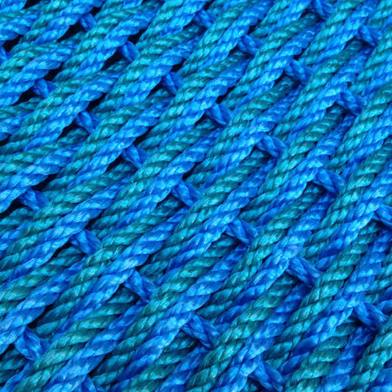 Katahdin Woven Rope Door Mat - Royal Blue & Green