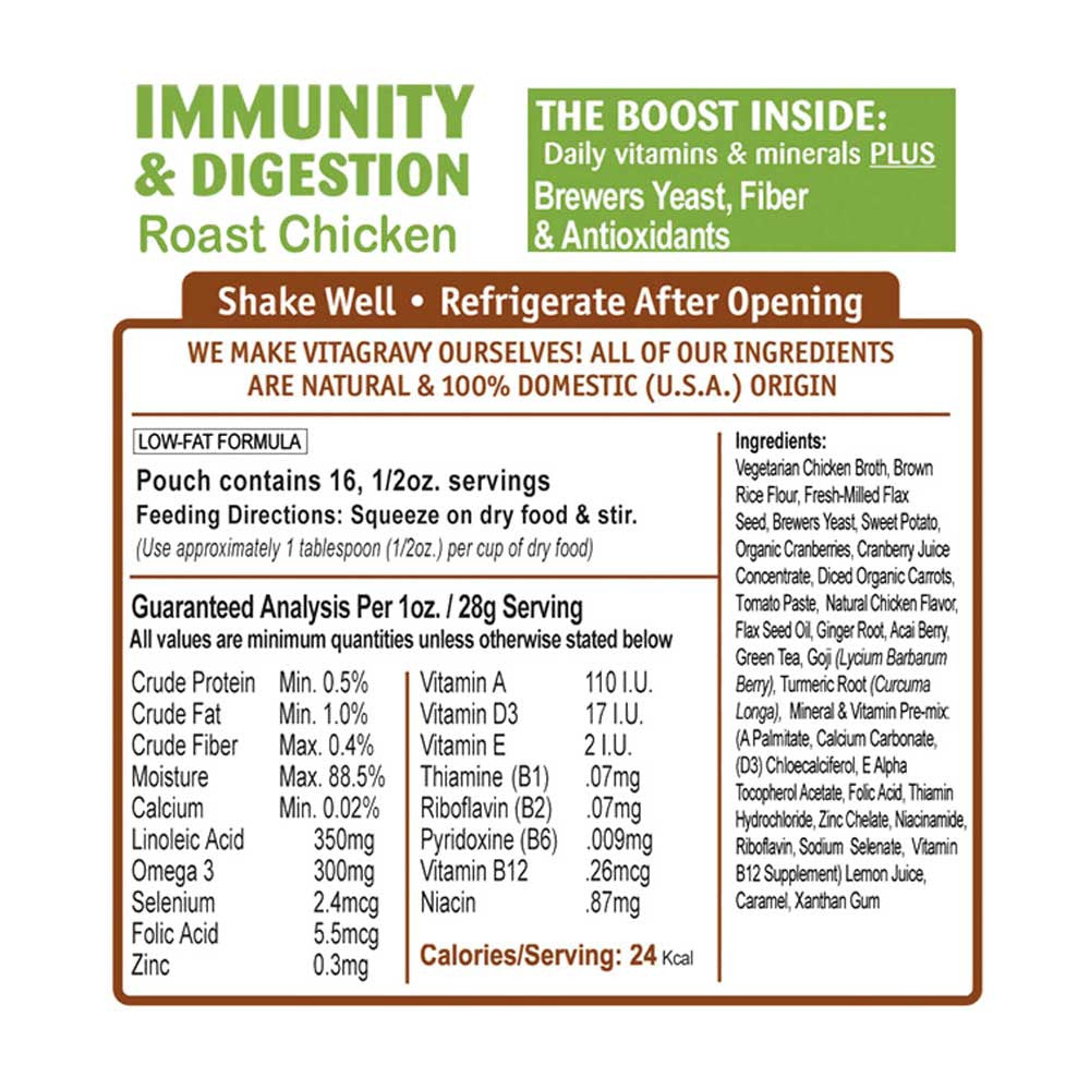 VitaGravy Immunity & Digestion - Roast Chicken Ingredients