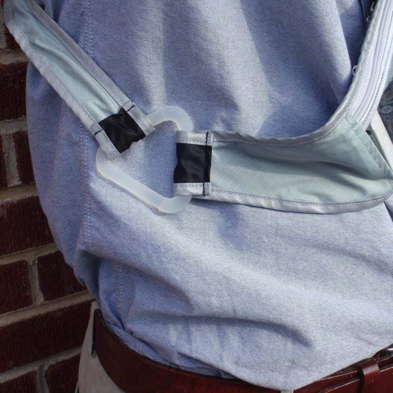Ripstop Quivver - Black & Silver w/ Clear Pocket