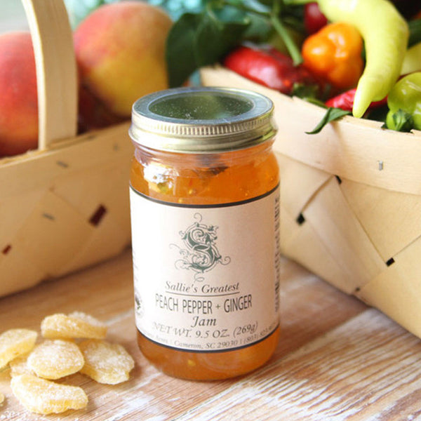 Sallie's Greatest Peach Pepper + Ginger Jam