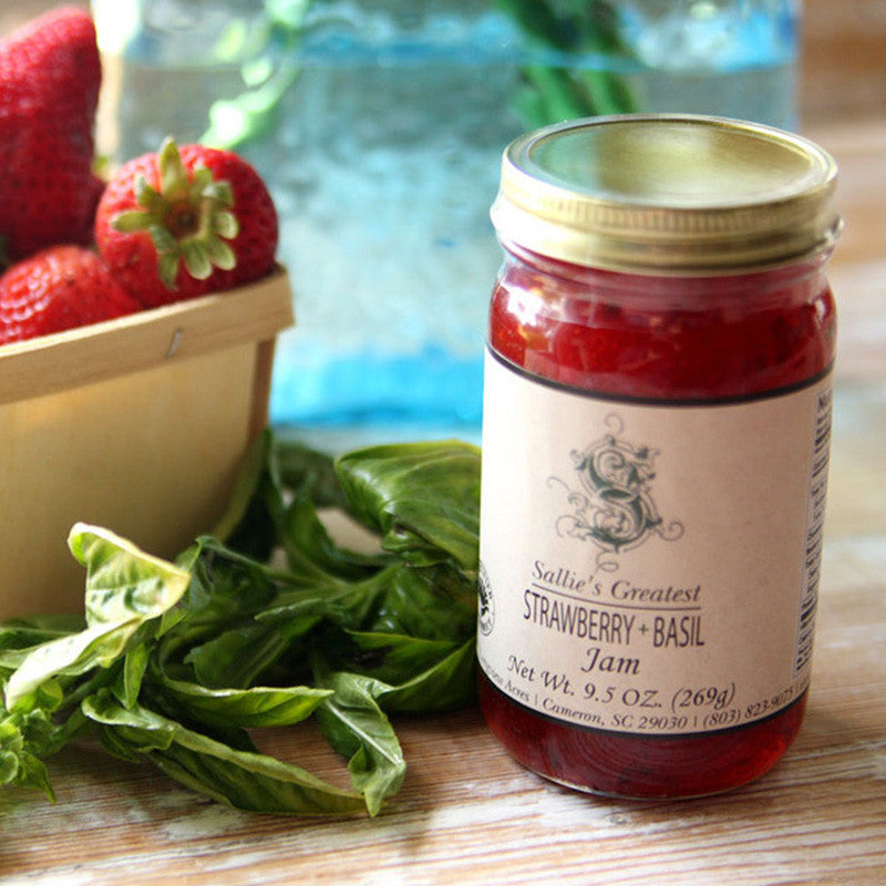 Sallie's Greatest Strawberry + Basil Jam