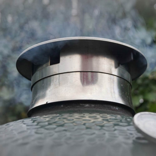 Smokeware Vented Chimney Cap For Big Green Egg Wishbox