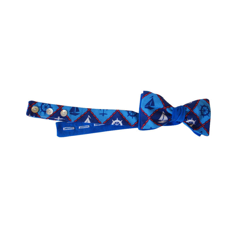 3-in-1 Bow Tie - Blue Anchor