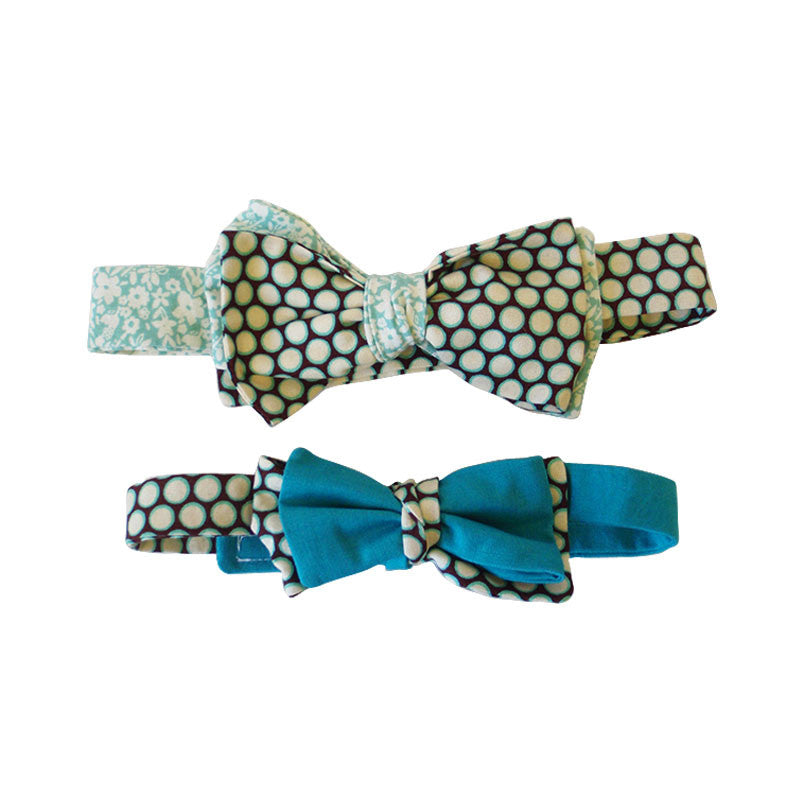 """Daddy & Me"" Bow Tie Set w/ Pocket Square 