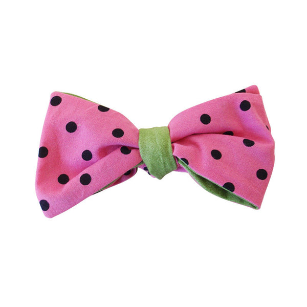 Hair Bow - Watermelon w/ Green