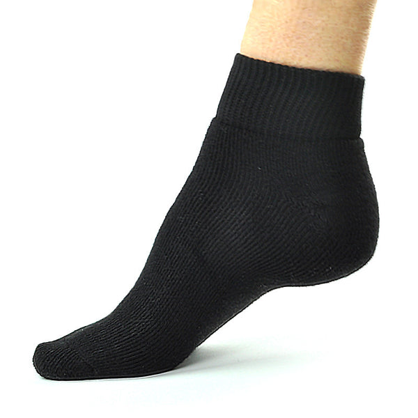 Bamboosa Quarter Socks- Black
