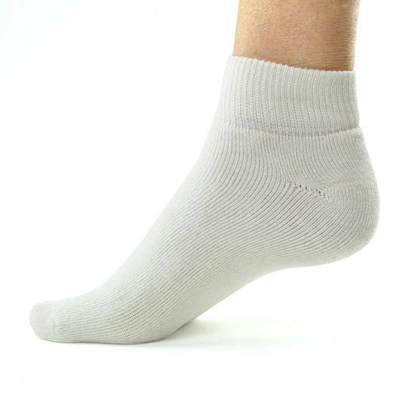 Bamboosa Quarter Socks- White