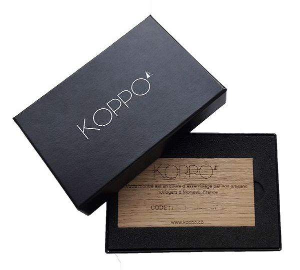Carte cadeau Koppo pour une montre de la collection Originelle