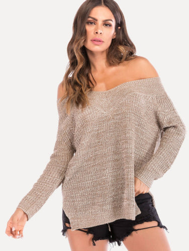 Split V Neck Jumper 4