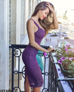 Pailletten Kleid Sexy Bodycon 8