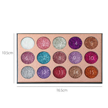 Laden Sie das Bild in den Galerie-Viewer, SCHÖNHEIT GLASIERTE Lidschatten Pallete Lange-anhaltende Make Up Lidschatten Shimmer Natur 15 Farbe Make-Up-palette