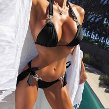 Laden Sie das Bild in den Galerie-Viewer, Crystal Bandage Bikini Set