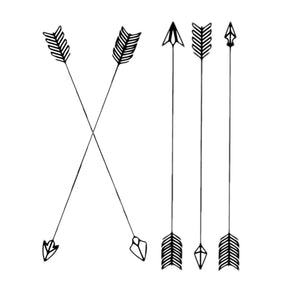 Stop Arrow Arrow Temporary Tattoos Weatherproof Men Battle Beauty Tattoos Fake