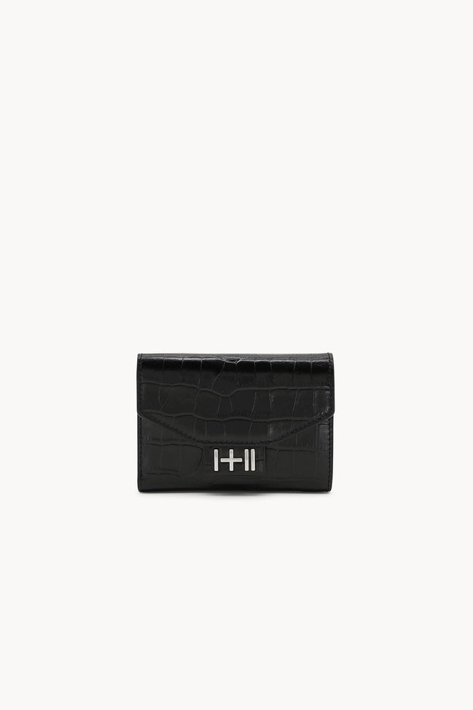 The Helena Croc Wallet Silver