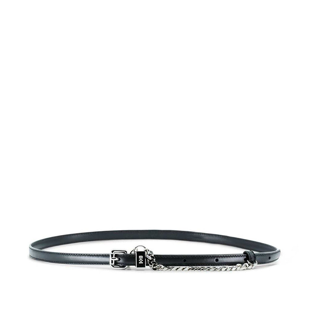 Dylan Kain The Lexi Belt Black Leather with Silver Hardware