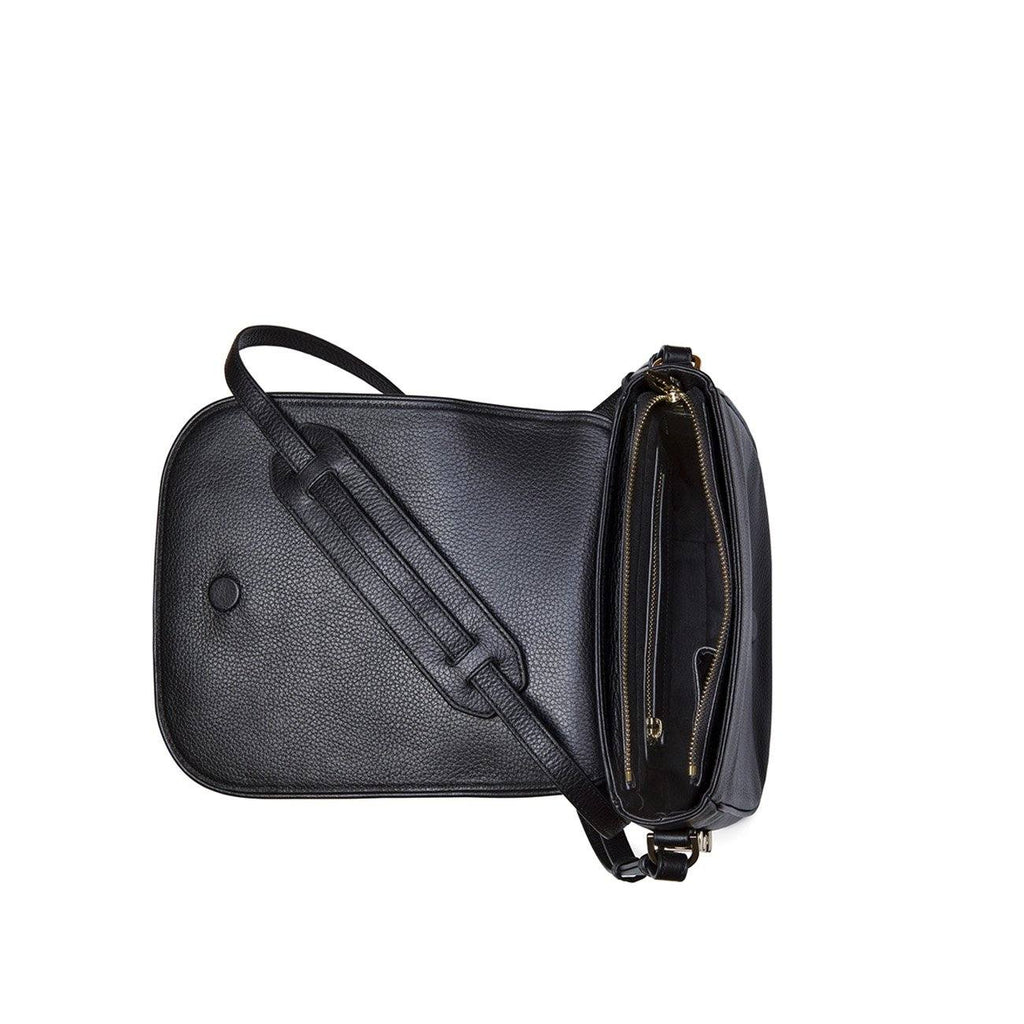 Dylan Kain Lovette Black Leather Bag with Light Gold Hardware