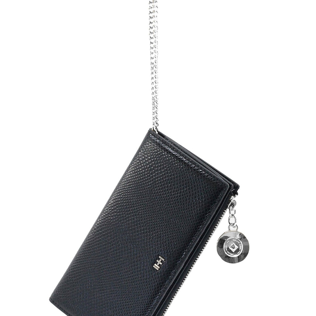 Dylan Kain Mad Love Wallet Black Leather with Silver Hardware