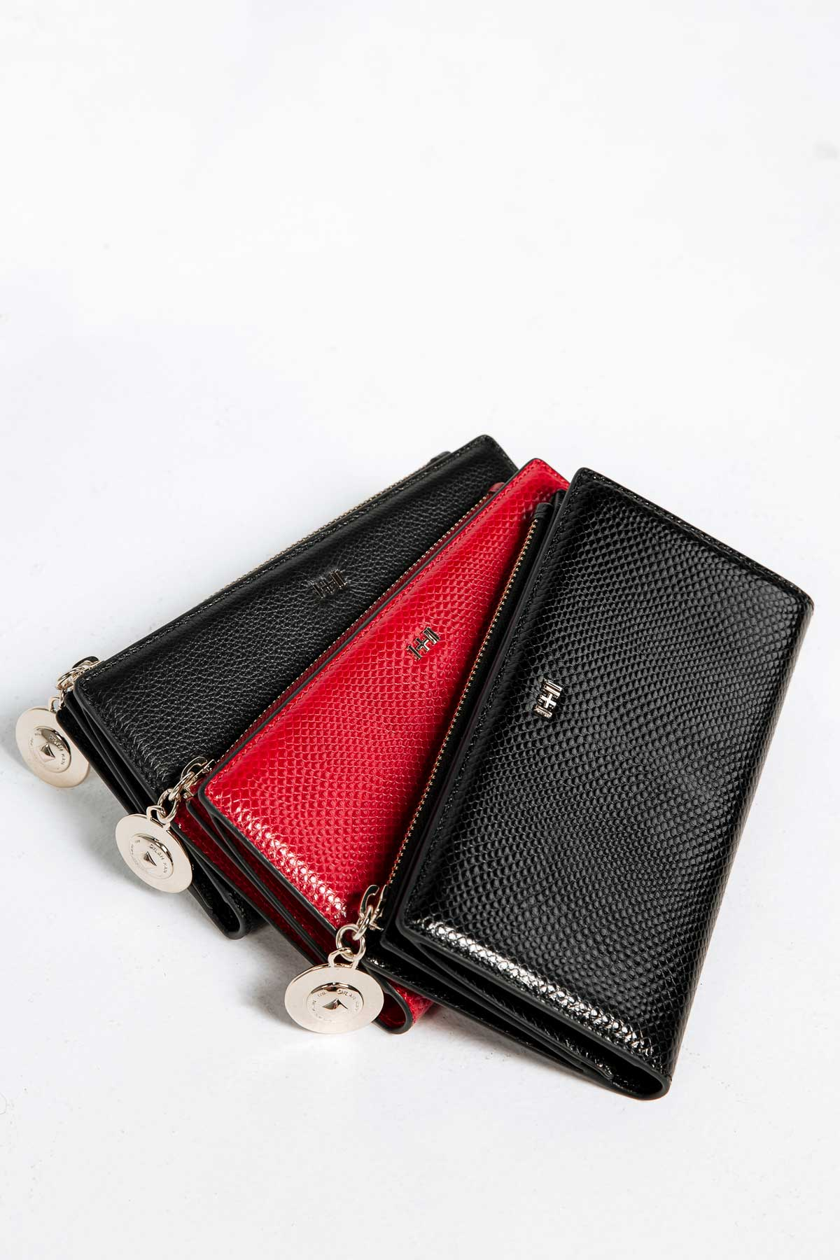Dylan Kain Mad Love Wallet Red Leather with Light Gold Hardware