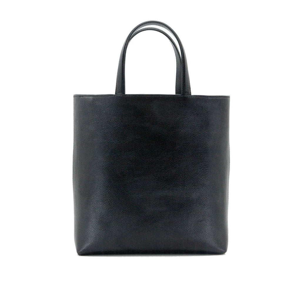Dylan Kain Stars Black Leather Tote with Silver Hardware