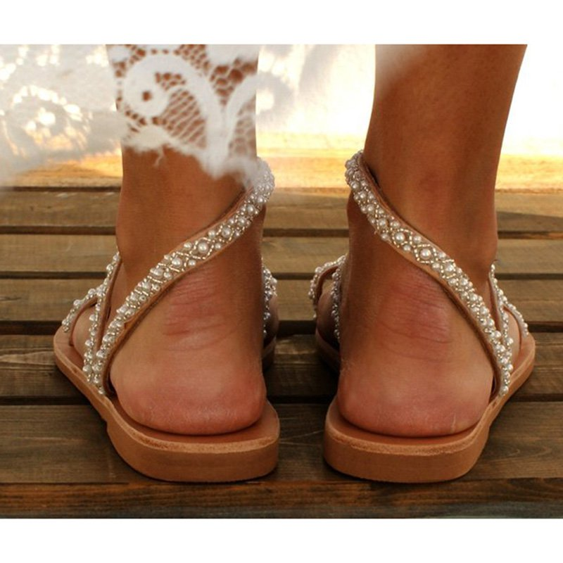 As Picture Flat Heel - Chaussures de perles quotidiennes-Shoes-fairyume-fairyume
