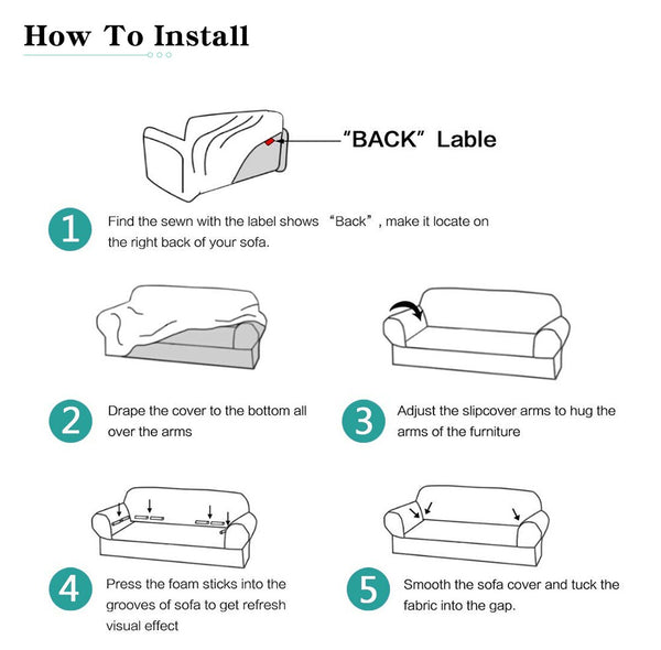 how to install sofa cover?