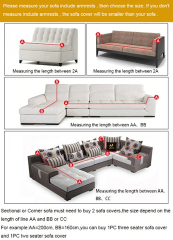 How to measure sofa for sofa cover?