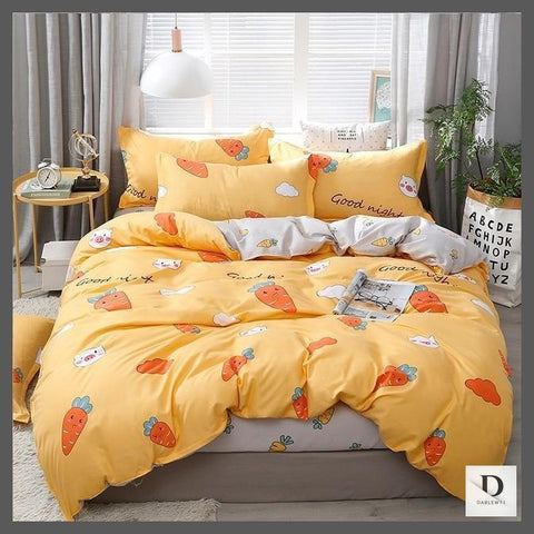 Orange Linen Bedding Sets | Orange Comforter sets