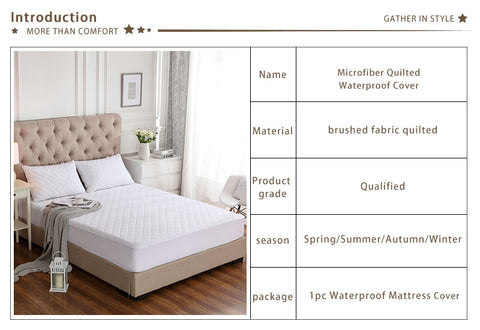 Quilted Waterproof Mattress Protector / Mattress Cover