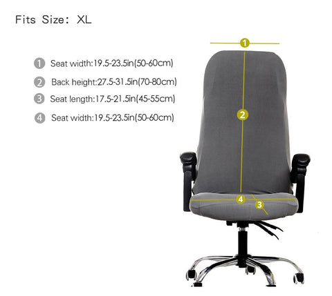 size for office chair slipcovers