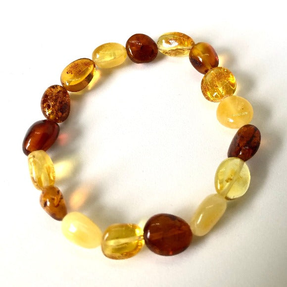 Baltic Amber Bracelet on Elastic