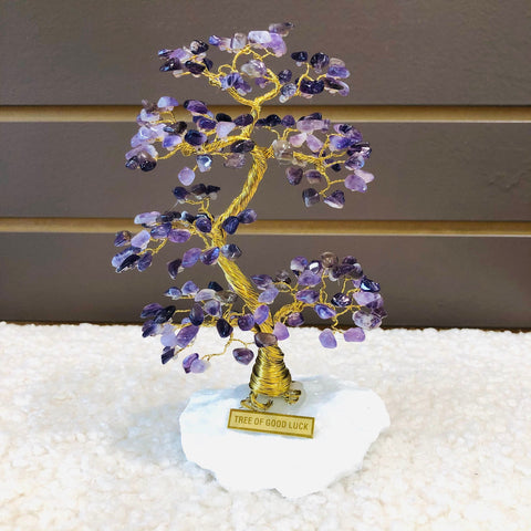 AMETHYST Tree of Good Luck - A2